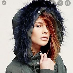 Free People Follow Me Close Embroidered Fur Parka